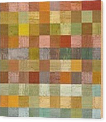 Soft Palette Rustic Wood Series Lll Wood Print