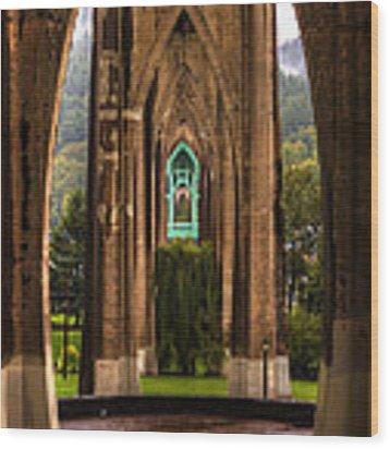 St. Johns Bridge Wood Print by Matt Hanson