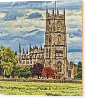 St. Mary Church At Steeple Ashton -2 Wood Print by Paul Gulliver