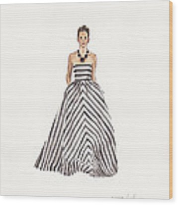Striped Glamour Wood Print