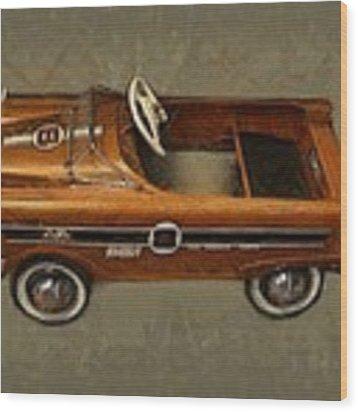 Super Sport Pedal Car Wood Print