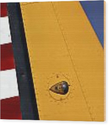 Tail Detail Of Vultee Bt-13 Valiant Wood Print