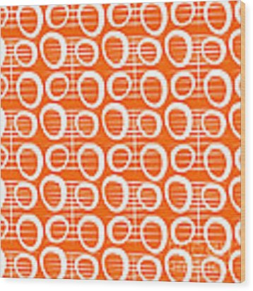 Tangerine Loop Wood Print