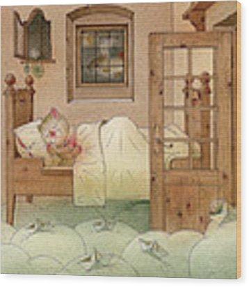 The Dream Cat 10 Wood Print