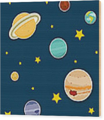 The Planets  Wood Print
