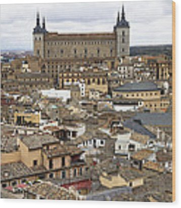 Toledo Spain Cityscape Wood Print by Nathan Rupert