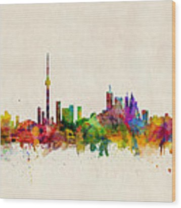 Toronto Skyline Wood Print by Michael Tompsett