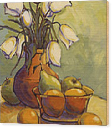 Tulips 1 Wood Print by Konnie Kim