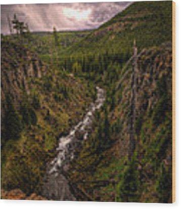Tumalo Creek Wood Print by Matt Hanson