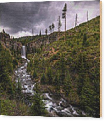 Tumalo Falls Wood Print by Matt Hanson