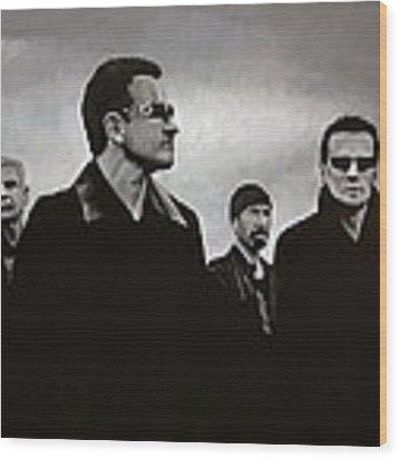 U2 Wood Print