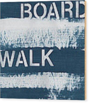 Under The Boardwalk Wood Print by Linda Woods