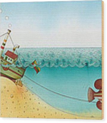 Underwater Story 02 Wood Print