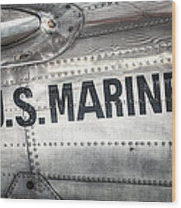 United States Marines - Beech C-45h Expeditor Wood Print by Gary Heller