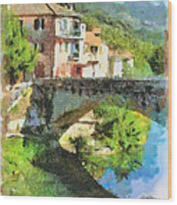 Vessalico View Wood Print by Enrico Pelos