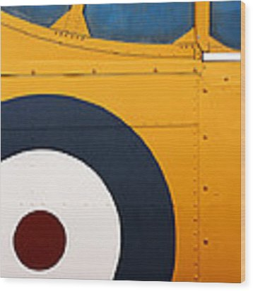 Vintage Airplane Abstract Design Wood Print