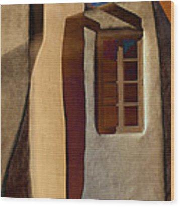 Window De Santa Fe Wood Print