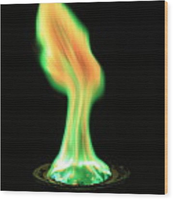 Copperii Chloride Flame Test Wood Print