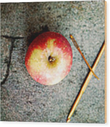 Apple Joy Wood Print by Kim Fearheiley