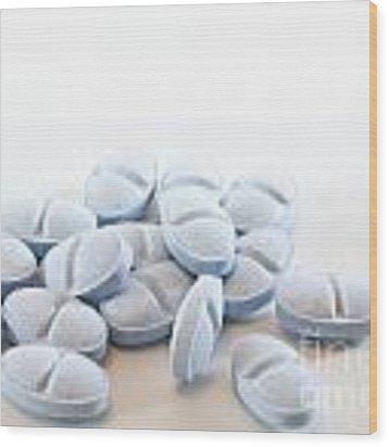 Blue Pills Wood Print