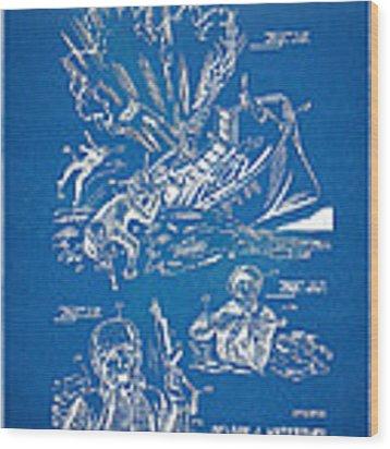 Bulletproof Patent Artwork 1968 Figures 18 To 20 Wood Print
