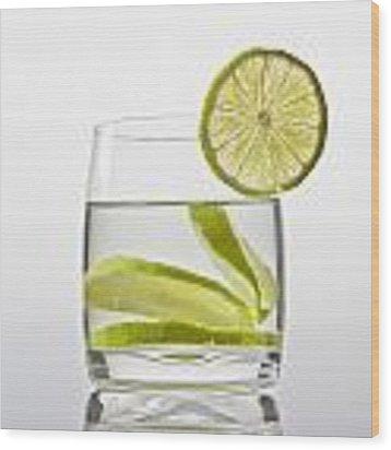 Glass With Lemonade Wood Print by Joana Kruse