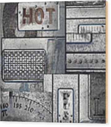 Hot Here Wood Print