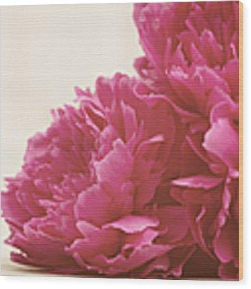 Pretty Pink Peonies Wood Print by Kim Fearheiley