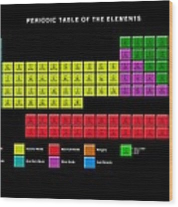 Standard Periodic Table, Element Types Wood Print by Victor Habbick Visions