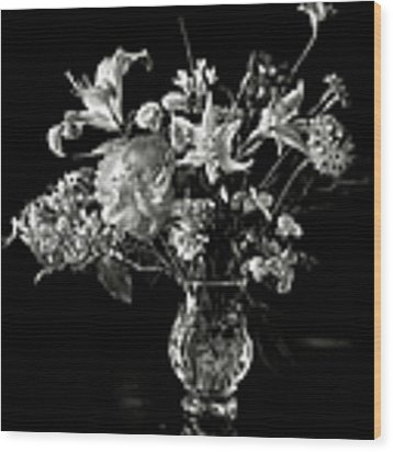Still Life In Black And White Wood Print by Endre Balogh
