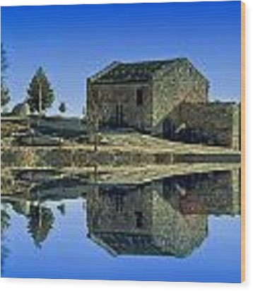The Lake Santuary - Santuario Della Madonna Del Lago Wood Print by Enrico Pelos