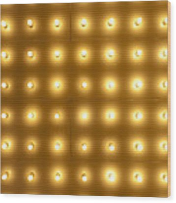 Theater Lights In Rows Wood Print by Paul Velgos