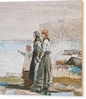 Waiting For The Return Of The Fishing Fleets Wood Print