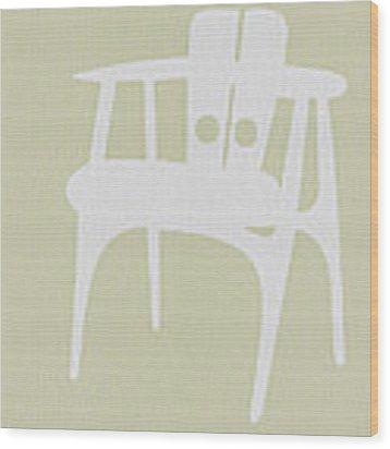 Wooden Chair Wood Print by Naxart Studio