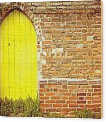 Yellow Gateway Wood Print by Tom Gowanlock