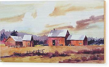 Vermillion View Wood Print by Art Scholz