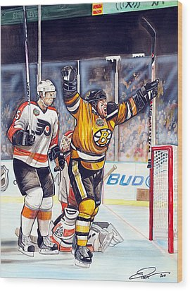 2010 Nhl Winter Classic Wood Print by Dave Olsen