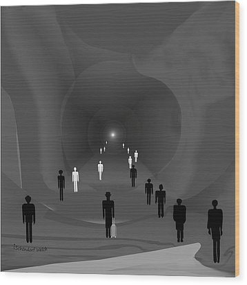 249 - The Light At The End Of The Tunnel   Wood Print