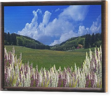 Wood Print featuring the photograph  A Beautiful View by Bernd Hau