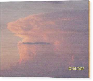 Wood Print featuring the photograph  A Natural Face Cloud by Robin Coaker