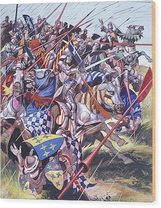 Agincourt The Impossible Victory 25 October 1415 Wood Print by Ron Embleton