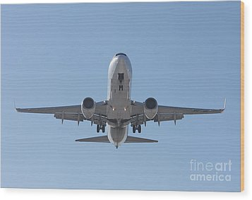 Wood Print featuring the photograph  Aireuropa - Boeing 737-85p - Ec-jbl  by Amos Dor