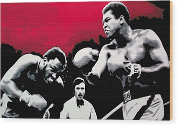 - Ali Vs Fraser - Wood Print by Luis Ludzska
