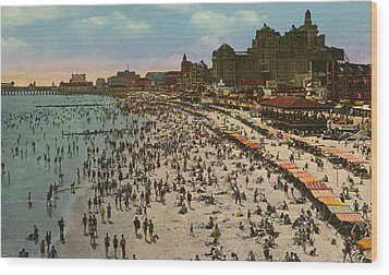 Atlantic City Spectacle Wood Print by Unknown