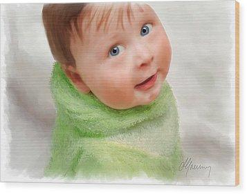 Baby Blue Eyes Wood Print by Michael Greenaway