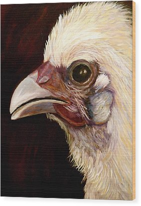 Baby Chick Wood Print by Marie Hamby