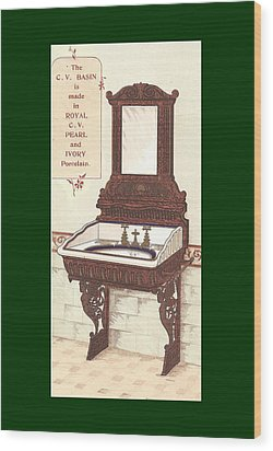 Bathroom Picture Wash Stand Two Wood Print