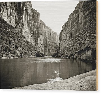 Big Bend National Park And Rio Grand River Wood Print by M K  Miller