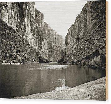 Big Bend National Park And Rio Grand River Wood Print
