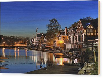 Boathouse Row  Wood Print by John Greim